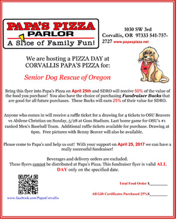 come get your pizza on April 25th!